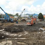 Pemancangan Selesai, Pembangunan Gedung Setprov Kaltara Dilanjutkan Pondasi