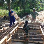 Pembangunan Jembatan TMMD Masuk Ke Perangkaian Besi Cor Beton