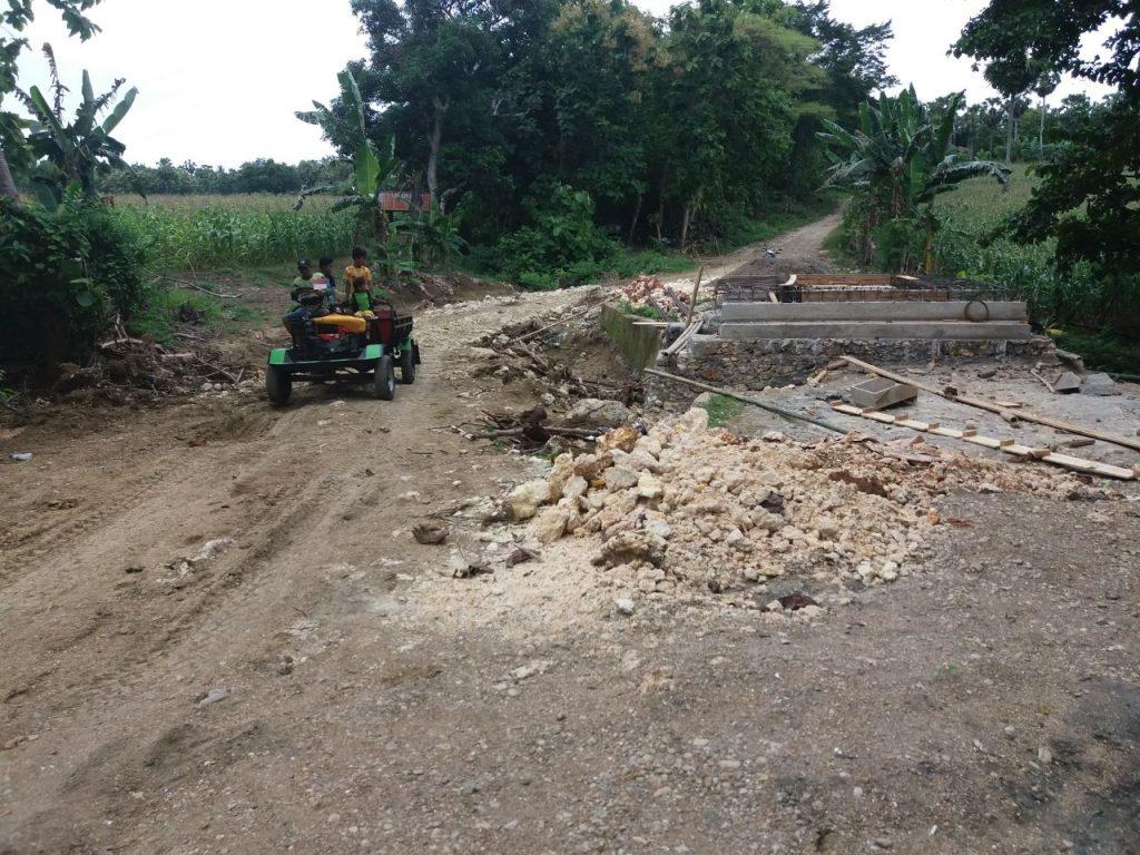 Pembangunan Jembatan Di Desa Lallatang Kecamatan Dua Boccoe  Sudah Hampir Rampung