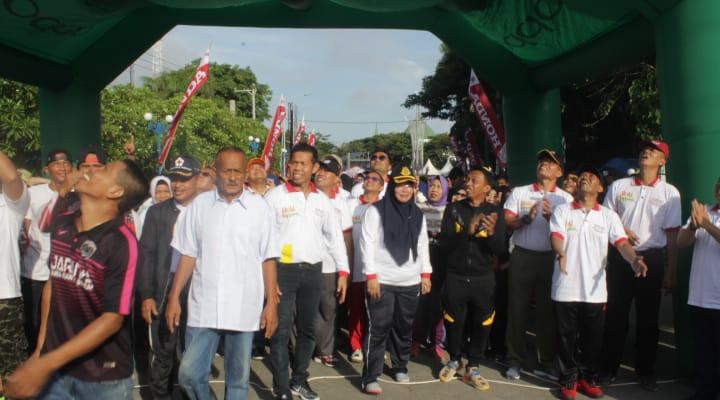 Jalan santai,Millennial Road Safety Festival (MRSF) Polres Sidrap