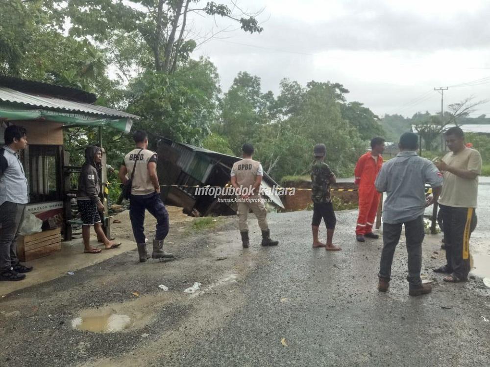 Gubernur Minta Gerak Cepat Tangani Jalan Longsor di Tarakan
