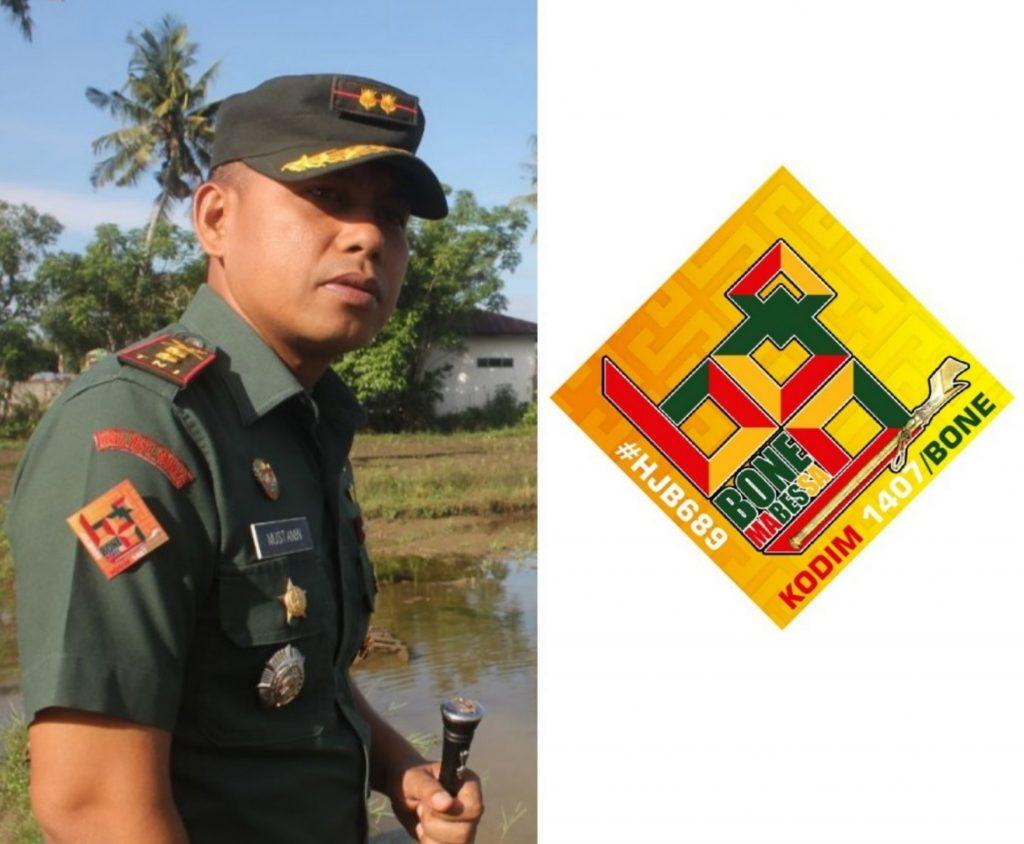 Dandim 1407 Bone Letkol Infantri Mustamin Pasang Logo HJB Untuk Ikutkan Personel dalam Berbagai  Kegiatan HJB ke 689 Dan Juga Turut dalam Pengamanan