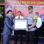 Lemkapi Berikan Penghargaan Promoter Reward Kepada Polres Metro Jakarta Barat