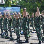 Jaga Kondisi Fisik, Prajurit  TNI Korem 141/Toddopuli Laksanakan Latihan Hanmars