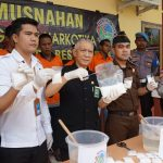 Polres Nunukan Musnahkan  1,8 Kg Sabu