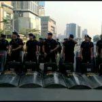 Personil Satbrimob Polda Sulsel BKO Polda Metro Jaya Terus Melakukan Pengamanan