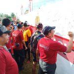 Spanduk Damai Tolak Kerusuhan di Sebarkan Polres Sinjai dalam    Senam Bersama
