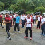 Meriahkan HUT Bhayangkara, TNI Polri dan Pemda Nunukan Olahraga Bersama