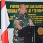 Gelar Kegiatan Pembinaan Keluarga Besar TNI, Danrem Pesankan Meningkatakan Kebersamaan dan Membangun Komunikasi