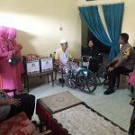 Kapolres Sinjai dan ibu ketua Bhayangkari Anjangsana kerumah purnawirawan Polri Sambut Hut bhayangkara ke 73 tahun