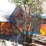 Rumah terbakar saat penghuni ke pesta Hajatan perkawinan keluarga