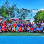 Meriahkan HUT Bhayangkara Ke-73, Kapolres Sinjai Buka Secara Resmi Turnamen Tenis dengan Memukul Bola