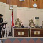 Jawaban Bupati Wajo terhadap pemandangan umum fraksi DPRD Kabupaten Wajo atas pengajuanRaperda Kabupaten Wajo tentang APBD-P Tahun 2019