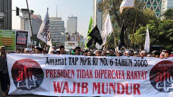 Netizen Kritik Spanduk Aksi Mujahid 212 'Selamatkan NKRI' Soal Tap MPR No 6 /2006