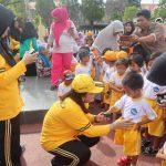 Dekat Dengan Anak,Polres Sinjai Dan Bhayangkari Gelar Senam Bersama Murid TK Kemala Bhayangkari
