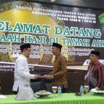 Wakil Bupati Wajo menerima kedatangan Jamaah Haji kloter 19 asal Kabupaten Wajo, ini harapannya