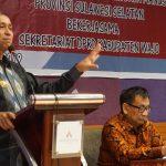 Bupati Wajo Paparkan isu strategis Daerah dihadapan Anggota DPRD Kabupaten Wajo yang baru dilantik kemarin, ini harapannya