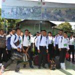 46 Siswa calon Tamtama PK TNI AD gelombang II TA 2019 diberangkatkan ke pakkatto Rindam XIV Hasanuddin
