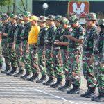 Personil Makorem 141/Tp dan Balakrem 141/Tp melaksanakan kegiatan Hanmars
