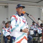 Bupati Wajo melepas kontingen Porseni PGRI Kabupaten Wajo mengikuti POR PGRI, ini harapannya
