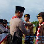 Upacara penutupan perkemahan tamu Saka Bhayangkara sekaligus penyematan Bet Saka Bhayangkara.