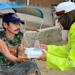 Jumat care polantas polres Bone sambangi Tukang Becak Dalam kota Watampone