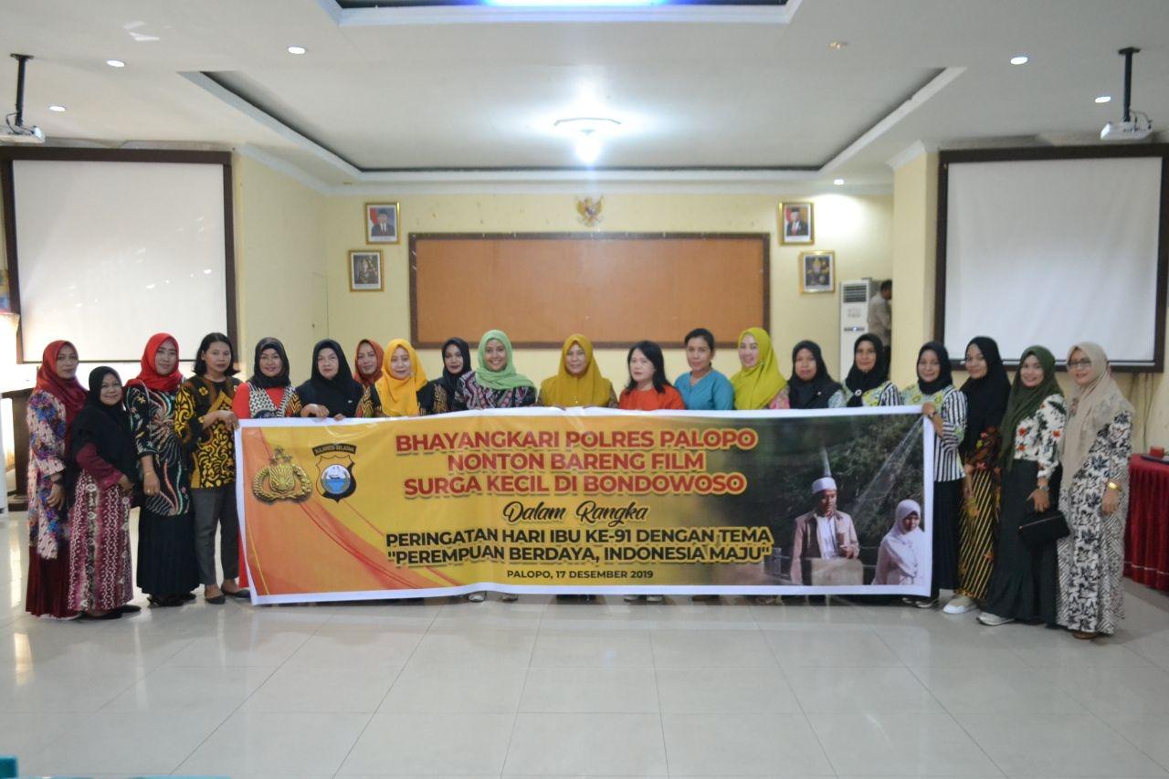 Film Dokumenter Surga Kecil Dibondowoso  , Ditonton 190 Ibu ibu Bhayangkari Polres Palopo