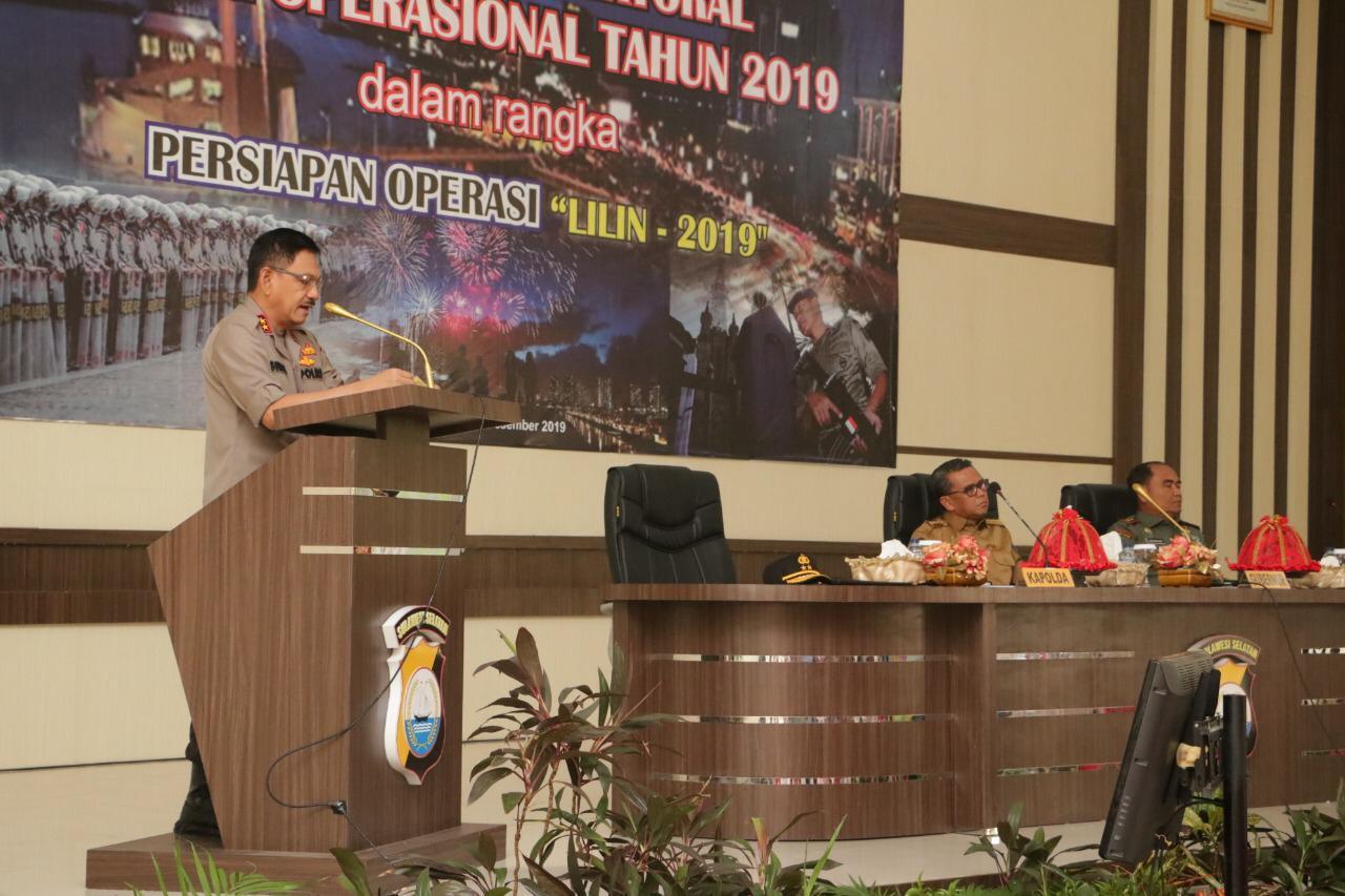 Kapolda Sulsel Pimpin Rakor Lintas Sektoral persiapan Ops Lilin 2019