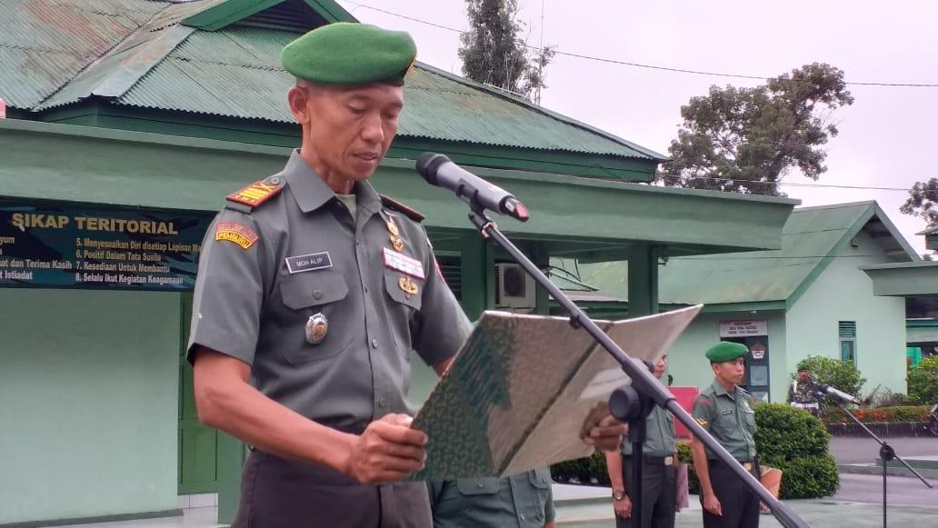 Kodim 1002-09/ Barabai , gelar Upacara Ring Bela negara ke 71 tahun 2019
