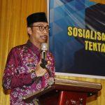 Wakil Bupati Wajo buka Sosialisasi Permendagri Nomor 19 tahun 2018, ini harapannya.