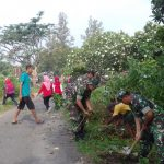 Wujudkan Lingkungan  Yang Berseri Koramil 04/Jebres Ajak warganya Kerja Bakti