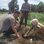 Polsek Patimpeng Polres Bone Ikut Program Kapolri Dalam Penanaman Pohon untuk penghijauan