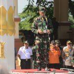 Ratusan Personel Kodim 1407 Dan jajaran Korem 141/Tp Ikuti Gelar Kesiapsiagaan Antisipasi bencana Banjir