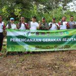 Polres Nunukan Polda Kaltara Gerakan sejuta Pohon Di Lokasi Embung Bolong