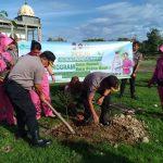 Tanam Pohon Serentak  Bentuk Sinergitas Polres Sinjai Dengan Instansi Terkait