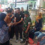 Dandim 1423 /Soppeng beserta Jajaran Dan ibu ketua Persit KCK Cab XXXI kunjungi Dan Bantu korban Kebakaran