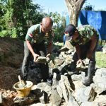 Letakan Batu Pertama,Kodim 0911/Nunukan Bangun 3 Unit Rumah Dinas Swadaya