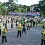 Personel Korem 141/ TP, Balakrem, PNS, Dan Personel kodim 1407/Bone  Laksanakan Apel pagi dilanjutkan Senam Body Combat