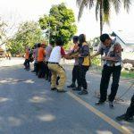 Polri-TNI Bantu Team Reaksi Cepat BPBD Bone Eksekusi  10 pohon Yang dianggap Membahayakan diporos Watampone-Bajoe