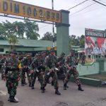 Minggu militer ,personil Kodim 1002/Barabai laksanakan Speed mars