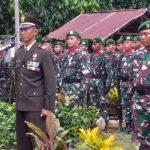 Danramil 1002-06/Barabai pimpin upacara  pemakaman Serma Purnawirawan Purwanto