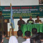 RAT KE 47 Primkop Kartika Hasanuddin Toddopuli , Tutup buku tahun 2019 dipimpin Kasrem 141/Tp