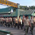 Anggota kodim 1002/ Barabai Laksanakan Apel pagi dilanjutkan Jalan jalan Pagi