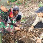 Babinsa 1002-08/kasarangan Bersama Warga tanam 200 bibit pohon petai