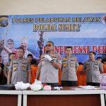 Press Release Polda Sumut, Kasus pencurian, Narkoba Dan pemalsuan ungkap Kapolda Sumut