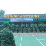 Pasi ops kodim 1407/Bone kapten Arh Ruslan Ambil Alih Minggu Militer Yang diikuti Ratusan Prajurit