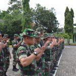Korem 141/ Tp gelar Minggu Militer Apel dan senam Barbel perkuat fisik prajurit