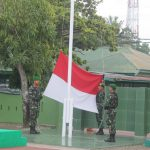 Ratusan personil kodim 1407/ Bone ikuti Upacara  bendera Minggu pertama bulan Maret 2020