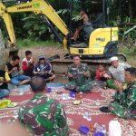 TNI AD bersama Warga Gelar doa bersama harap berkah  di lokasi Pra TMMD ke 107 Kodim 1002/ Barabai
