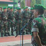 Pasi ops kodim 1407/Bone kapten Arh Ruslan Ambil Alih apel  tingkatkan Kedisiplinan Anggota